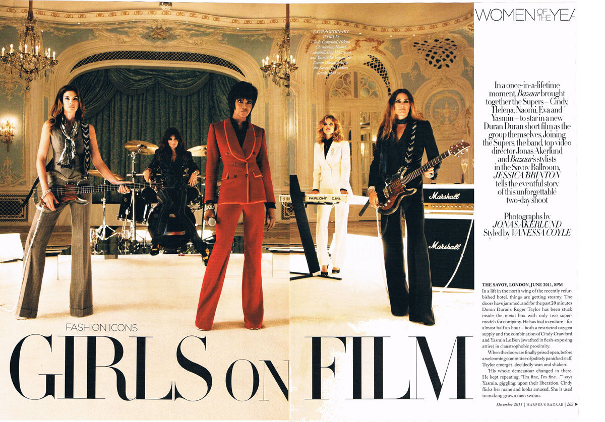 Girls on Film article in Harper's Bazaar