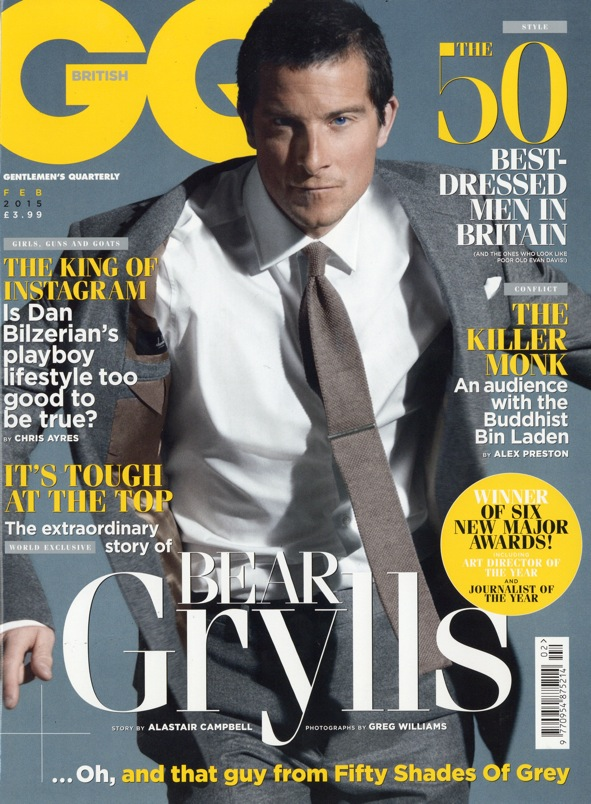 GQ February 2015 – article on Edward Sexton made to measure