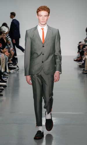 Grey suit by Sibling and Edward Sexton