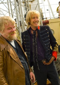 The Boat That Rocked – Edward made costumes for Reece Ifans and Bill Nighy, as Edward was making a lot of clothes at the time for people in the music industry.