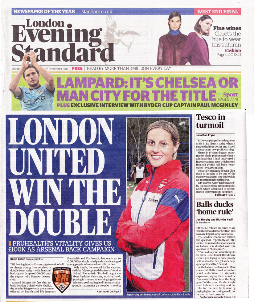 Cover of Evening standard
