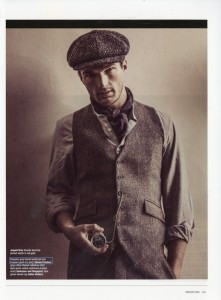 Edward Sexton Donegal tweed waistcoat and trousers