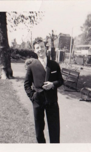 Bespoke tailor Edward Sexton as a young man in the early 1960s